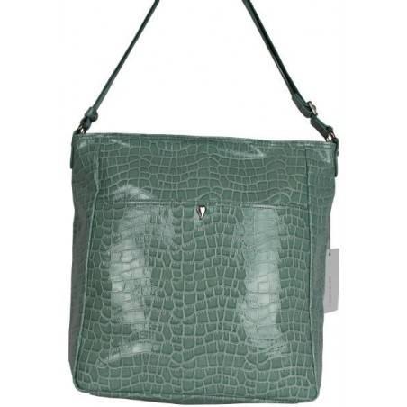 Grand sac bandoulière Lancaster effet croco verni 541-16 LANCASTER - 4