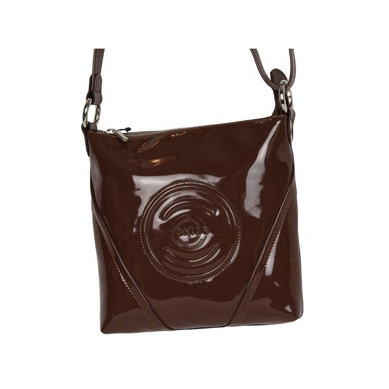 Petit sac pochette extra plat Cosmos verni Texier 25101 TEXIER - 1