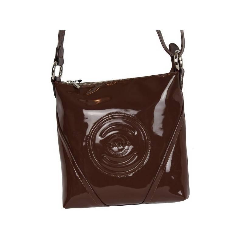 Petit sac porté épaule pochette bandoulière Cosmos verni Texier 25101 TEXIER - 1