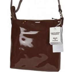 Petit sac porté épaule pochette bandoulière Cosmos verni Texier 25101 TEXIER - 3