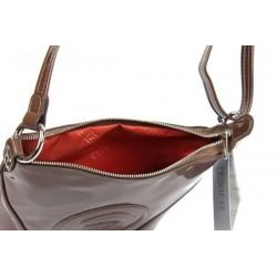Petit sac porté épaule pochette bandoulière Cosmos verni Texier 25101 TEXIER - 2