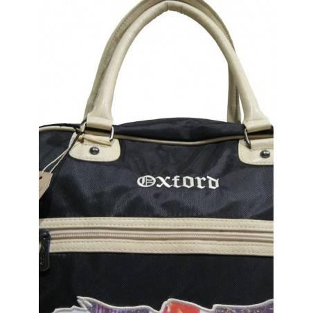 Sac shopping de marque Oxford toile noire logo OXFORD - 2