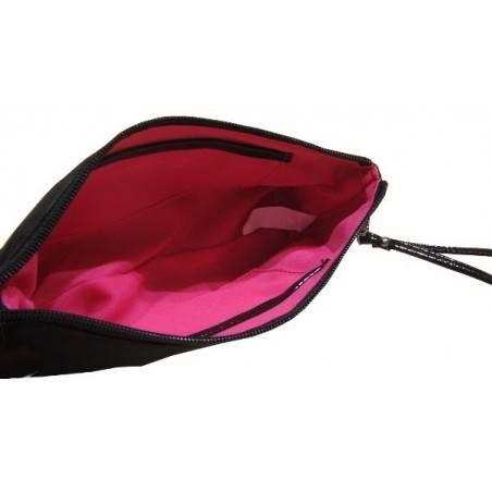 Pochette femme petite trousse maquillage ou crayons de marque fuchsia f9335-4 noir FUCHSIA - 2