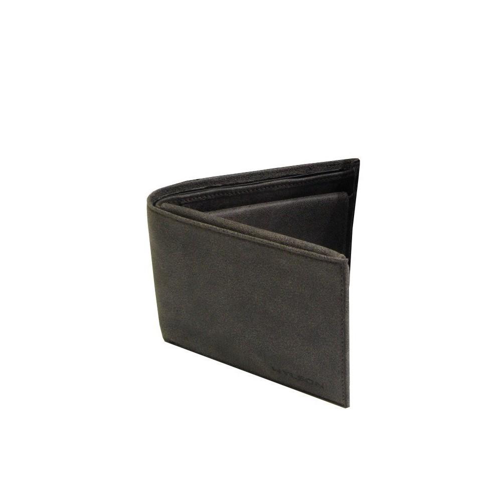 Portefeuille européen cuir marron de marque Wylson WYLSON - 1