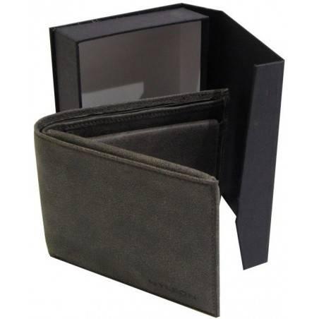 Portefeuille européen cuir marron de marque Wylson WYLSON - 4