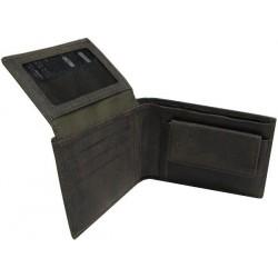 Portefeuille européen cuir marron de marque Wylson WYLSON - 2