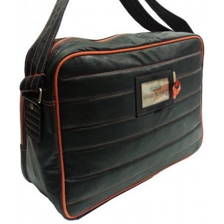 Gibecière de marque Serge Blanco noir et orange eig13019 SERGE BLANCO - 2