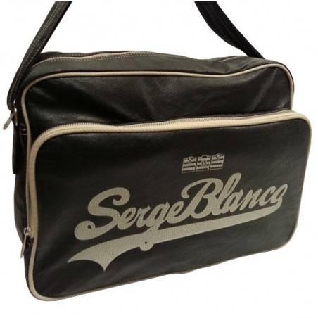 Gibecière de marque Serge Blanco noir et beige eig13019 SERGE BLANCO - 1