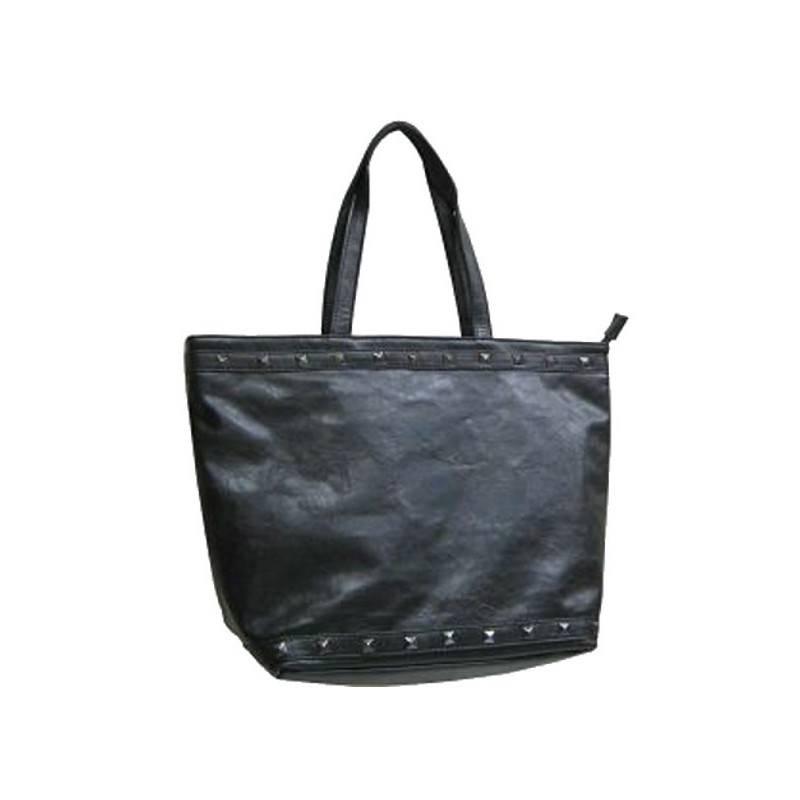 Sac à main shopping trapèze noir Le temps des Cerises LE TEMPS DES CERISES - 1